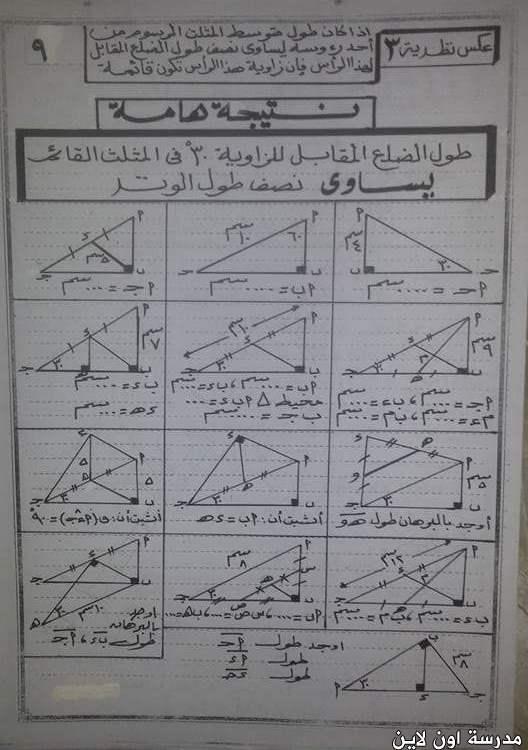 مراجعة الهندسة للصف الثانى الاعدادى الترم الاول أ/ أشرف حسن  161169154846679